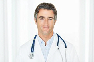 confident successful male doctor with stethoscope xs