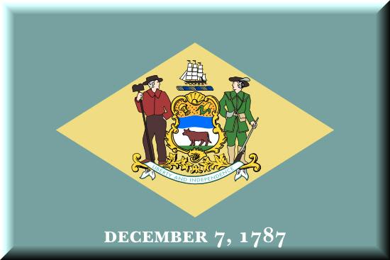 Delaware state flag, medical clinics