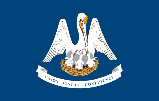Louisiana state flag, medical clinics