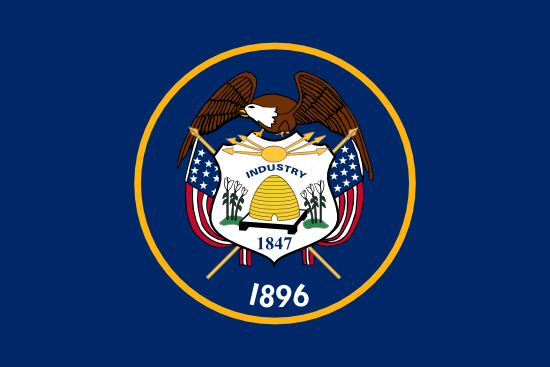 Utah state flag, medical clinics
