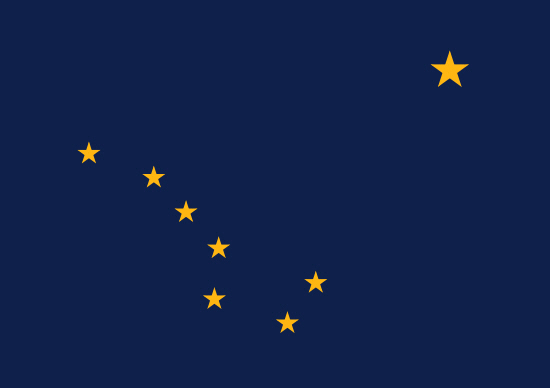 Alaska state flag, medical clinics
