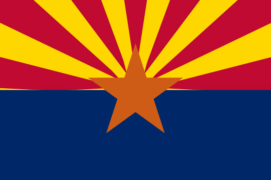 Arizona state flag, medical clinics