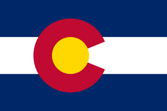 Colorado state flag, medical clinics