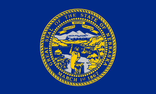 Nebraska state flag, medical clinics