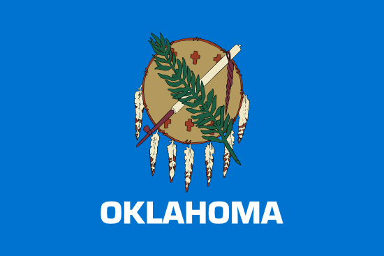 Oklahoma state flag, medical clinics