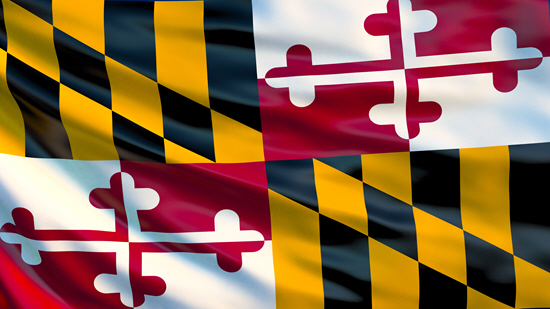 Maryland state flag, medical clinics