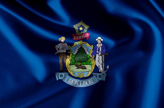 Maine state flag, medical clinics