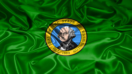 Washington state flag, medical clinics