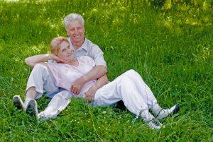Seniors taking break after exercise 300x201